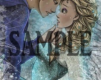 Elsa and Jack Frost ~ Prints