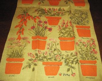 Vintage Vera Linen Kitchen Towel