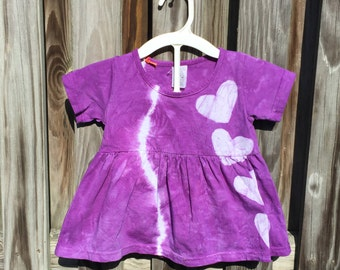 Girls Easter Outfit, Toddler Easter Dress, Purple Toddler Dress, Purple Baby Dress, Purple Heart Dress, Purple Baby Dress Set (18 months)
