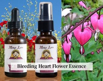Bleeding Heart Flower Essence, 1 oz Dropper or Spray for Healing the Heart
