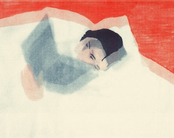 Sleep/Reading A3 3tone Riso