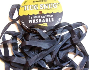 Gray Ribbon, Hug Snug Rayon Seam Binding 1/2 inch wide x 100 yards, Slate Gray Ribbon