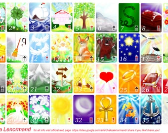 Chakra Lenormand Oracle Meditation and Spell 54 Card Deck and book set