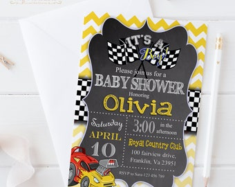 Car Baby Shower Invitation / Digital Printable Invite / DIY Party