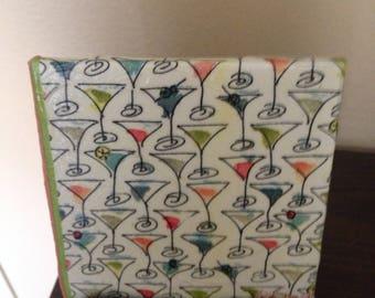Martini Glass coasters