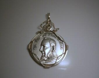 Saint Pio Religious Medal Pendant