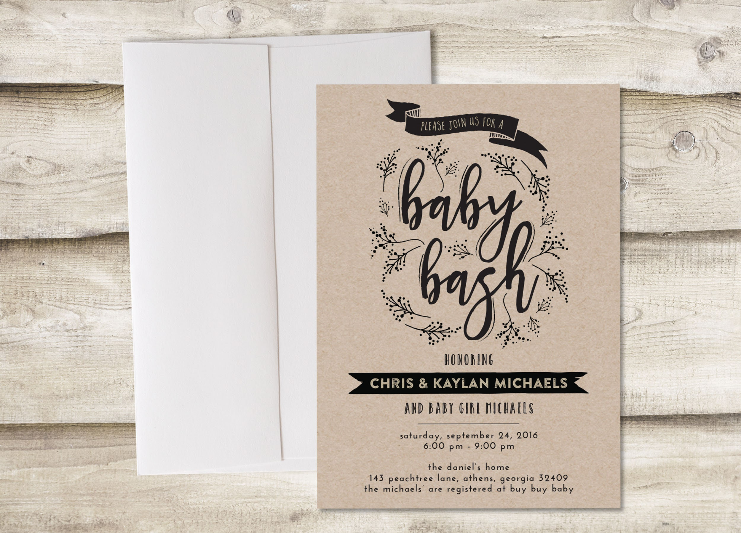 Baby Shower Invitation Baby Bash Invitation Baby Shower