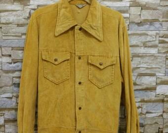 Vintage 70's 60's Pacific Trail Sportswear Jacket Corduroy Emblem 0f Quality
