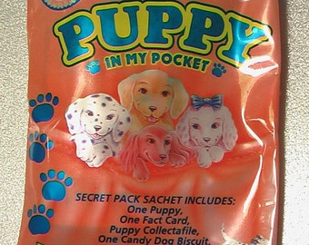 Vintage Puppy In My Pocket New, Unopened 1995 Topps Original