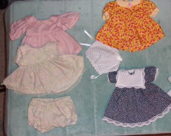 Sewn Doll Clothes..3 Outfits Size Small