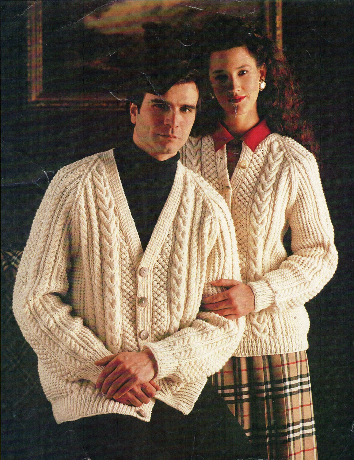 Womens / Mens Aran Cardigan Knitting pattern PDF Aran Jacket