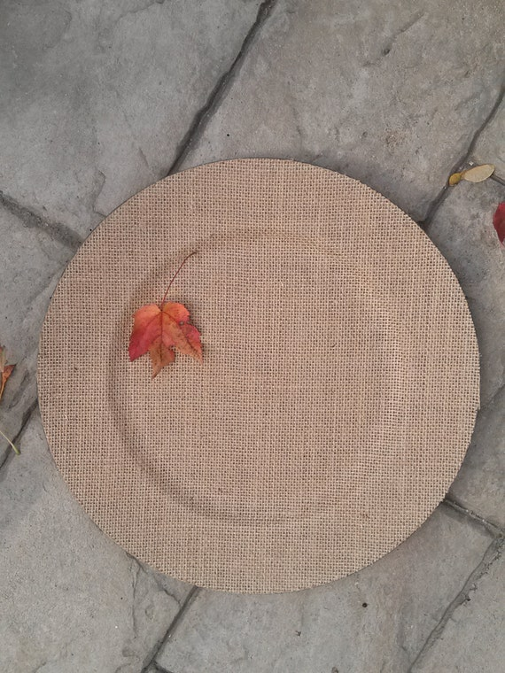 Set of 14 BURLAP CHARGER Plates Chargers Tableware Plate Bride