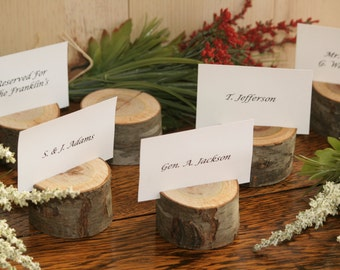 75 Rustic rustic place card holders, woodland weddings, barn wedding, rustic wedding decor, wood place card holder, country wedding, logs