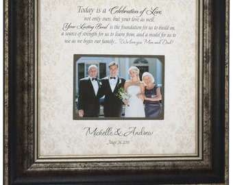 Wedding Photo Frame, Parents of the Bride Gift, Parents of the Groom Gift, 16x16