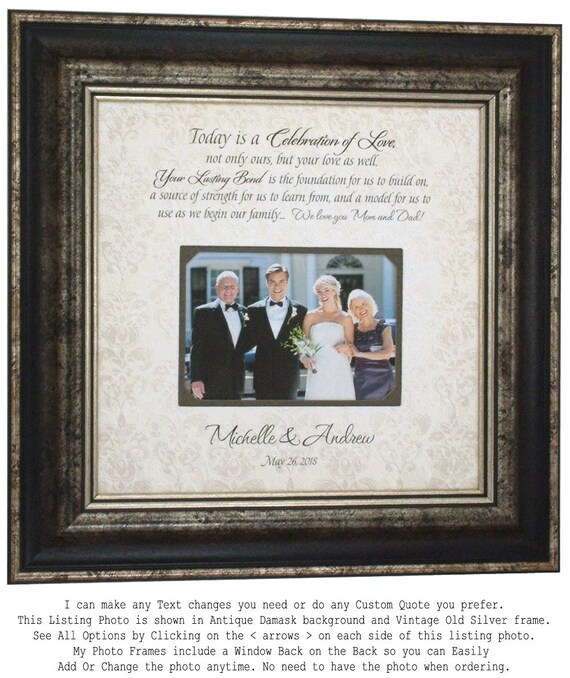 Wedding Photo Frame Parents of the Bride Gift Parents of the