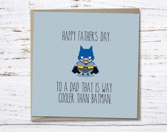 Father's Day Card // Super Hero // Batman // Gift for Dad // Greeting card