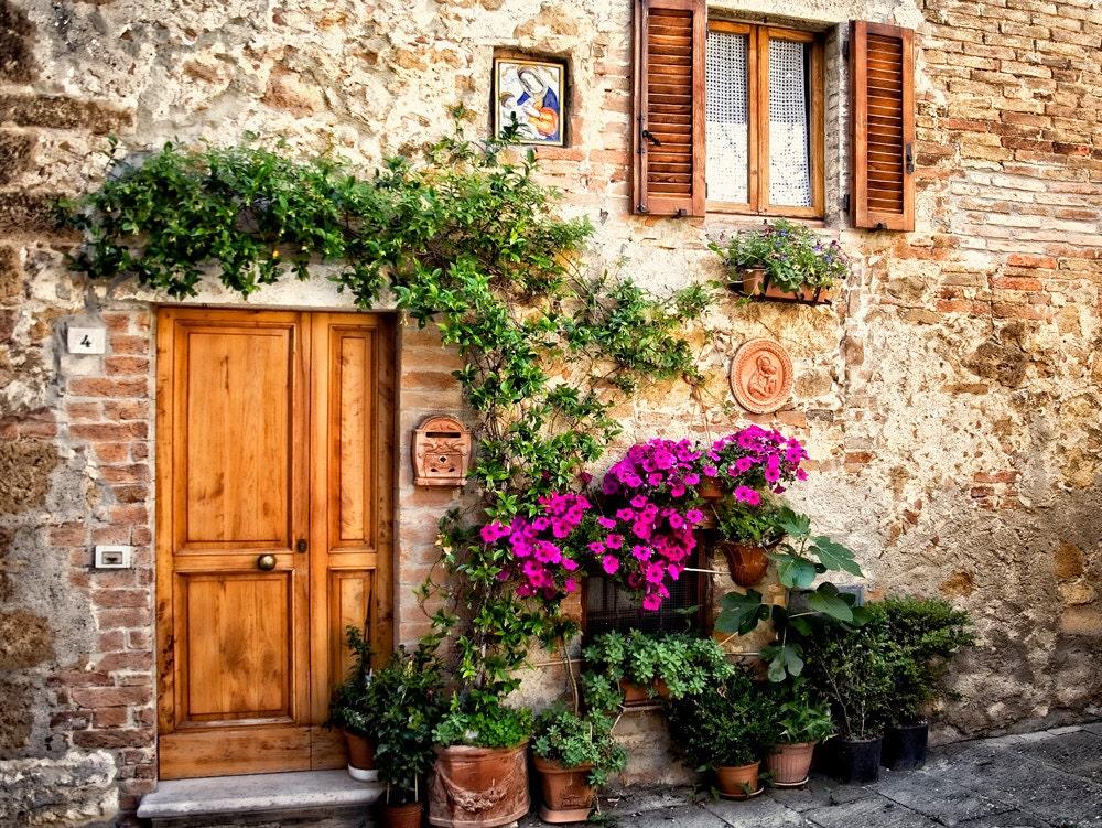 🔎zoom & Tuscan Door Pienza Italy Wooden Door Italy Rustic Door
