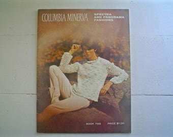 Columbia-Minerva 1960s Knitting Patterns Book 759 circa 1965 Spectra and Panorama Fashions