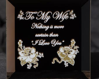 Gift for your Wife Tell Her How Much You Love Her Keepsake Gift for your Wife