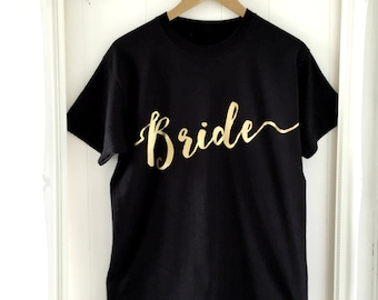 Bride T-Shirt | Wedding Clothing | Engagement Gifts | Wedding Gifts | Hen Party T-Shirt | Bridal