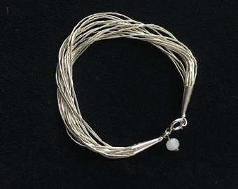 Sterling Silver Multi-Strand Bracelet with Charm. #liquidsilver #flahsale  #southwestern