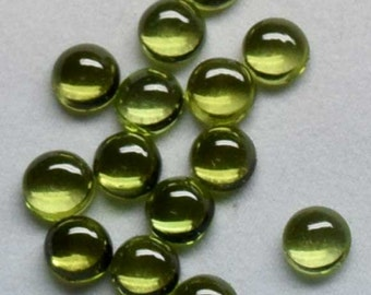Natural Peridot AAA Quality 8x8 mm Round Cabochon Loose Gemstones