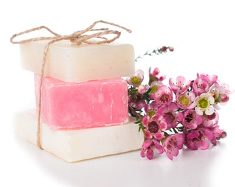 Cherry Blossom Goat's Milk Soap | Luxury Bath Soap | Handmade Bath Soap