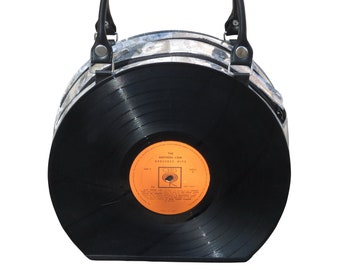 Vinyl record handbag - retro vintage musicians musician dj music enthusiasts enthusiast singer dancer dancers broadway 50s 60s piano player