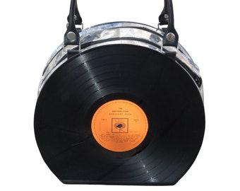 Vinyl Schallplatte Handtasche - retro Vintage Musiker Musiker dj Musik-Enthusiasten-Enthusiasten Sänger Tänzer Tänzer Broadway 50er Jahre 60er Jahre Klavier Spieler