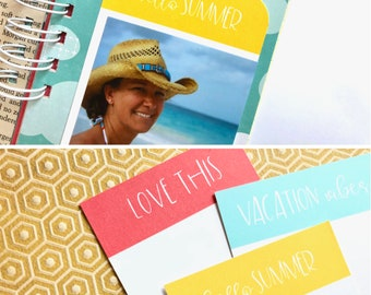 Best Day Ever, Vacation Vibes, Hello Summer, Love This, Pocket Cards, Digital Journaling Cards, Planner Supplies, Pocket Scrapbooking, Beach