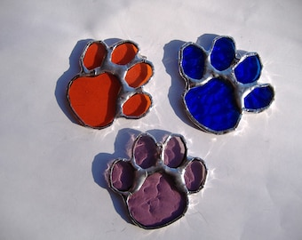 paws stained glass suncatchers