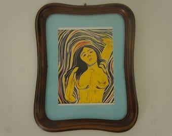Vintage Framed, Print, Madonna Print, La Madonna Art, Home, Office, Decor, Gift Idea