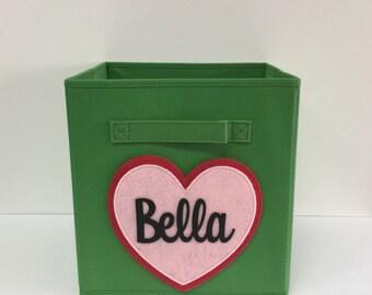 Genial Kids Storage Bin, Personalized Bin, Girls Room Decor, Kids Decor, Fabric  Storage Cube, Nursery Storage, Storage Basket, Toy Storage, Toy Box