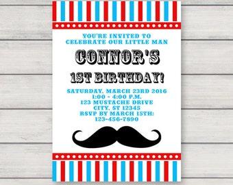 Mustache invitation Etsy