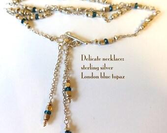 Necklace: London blue topaz, sterling silver