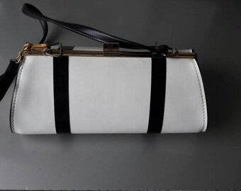Black and White Vintage Handbag Clutch