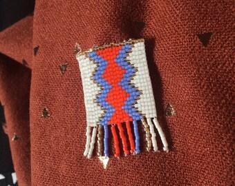 """Weave"" Miyuki beads brooch"