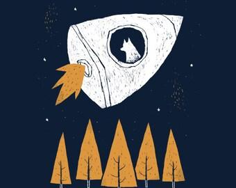 Laika space dog T-shirt /laika tee / first animal in space laika