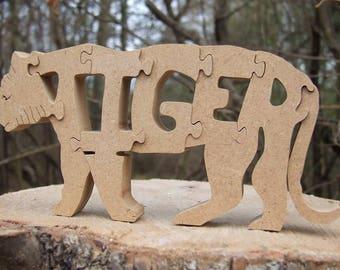 Tiger ornament, wooden tiger, tiger, tiger decor,tiger gift, wooden ornament, zoo animal, zoo gift, tiger lover gift, animal ornaments