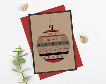 Husband Christmas Card - personalised - brother son dad granddad