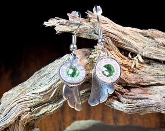 9mm ammo cherub angel earrings/bullet jewelry