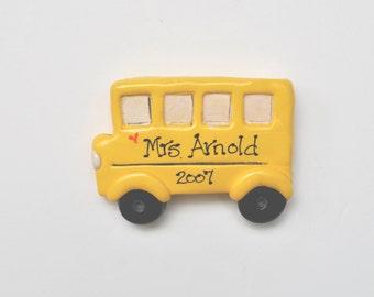 School Bus Personalized Christmas Ornament /bus ornament/education/bus driver
