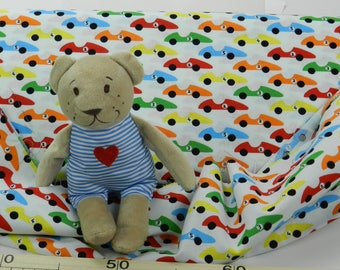 Printed  cotton fabric for kids:   Cotone Junge Linie, Macchine