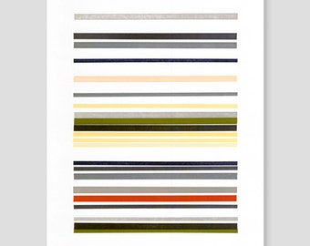 Letterpress Stripes Print (Version D)