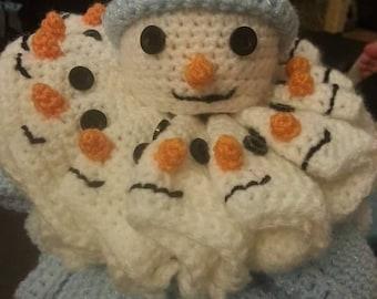 Chocolate Orange Snowman Crochet Pattern