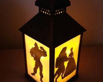 Disney Beauty and Beast Lantern