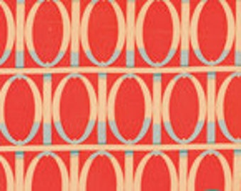 Martha Negley Sale Fabric Farmington Gate in Red for Rowan Fabrics Half Yard