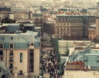 On SALE: Paris Rooftops Photograph, Romantic gift for her, Art Photo, Paris Decor, Home Decor, Living Room Decor, Architecture Photography