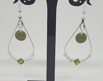 Bohemian Earrings: drop / round / khaki