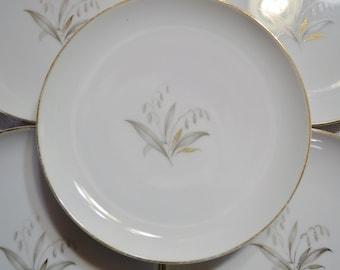 Vintage Kaysons Golden Rhapsody Bread Plate Set of 5 Floral Design Japan Replacement  PanchosPorch